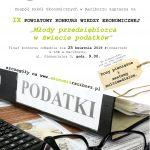 IX Powiatowy Konkurs Wiedzy Ekonomicznej odwołany