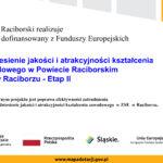 """""""Podniesienie jakości i atrakcyjności kształcenia zawodowego w Powiecie Raciborskim – ZSE  w Raciborzu – etap II"""""""