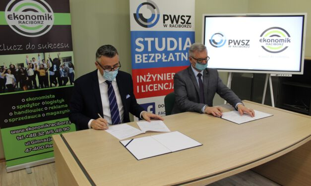 Podpisanie umowy o współpracy z Państwową Wyższą Szkołą Zawodową w Raciborzu