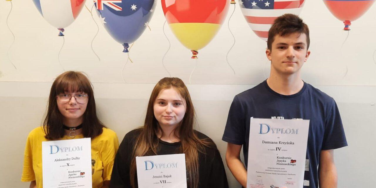 Nasi laureaci  Konkursu Języka Angielskiego i Niemieckiego PWSZ w Raciborzu