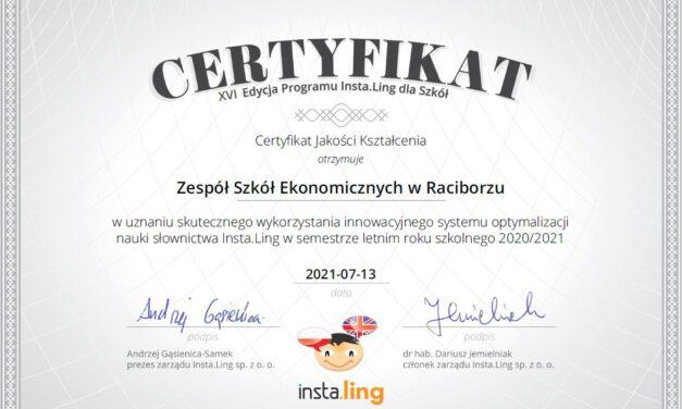 Angielski z InstaLing w Ekonomiku